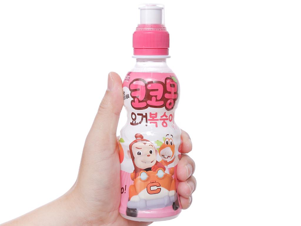 6 chai nước uống tổng hợp Kokomong vị đào 200ml 3