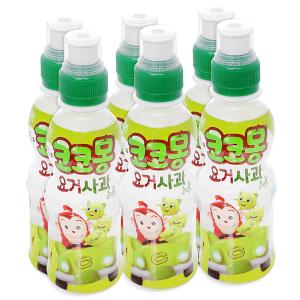 6 chai nước uống tổng hợp Kokomong vị táo 200ml