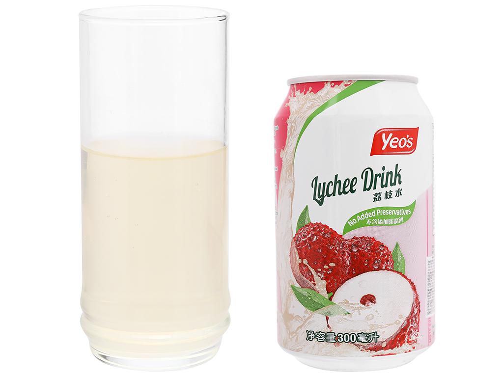 24 lon nước trái vải Yeo's 300ml 8