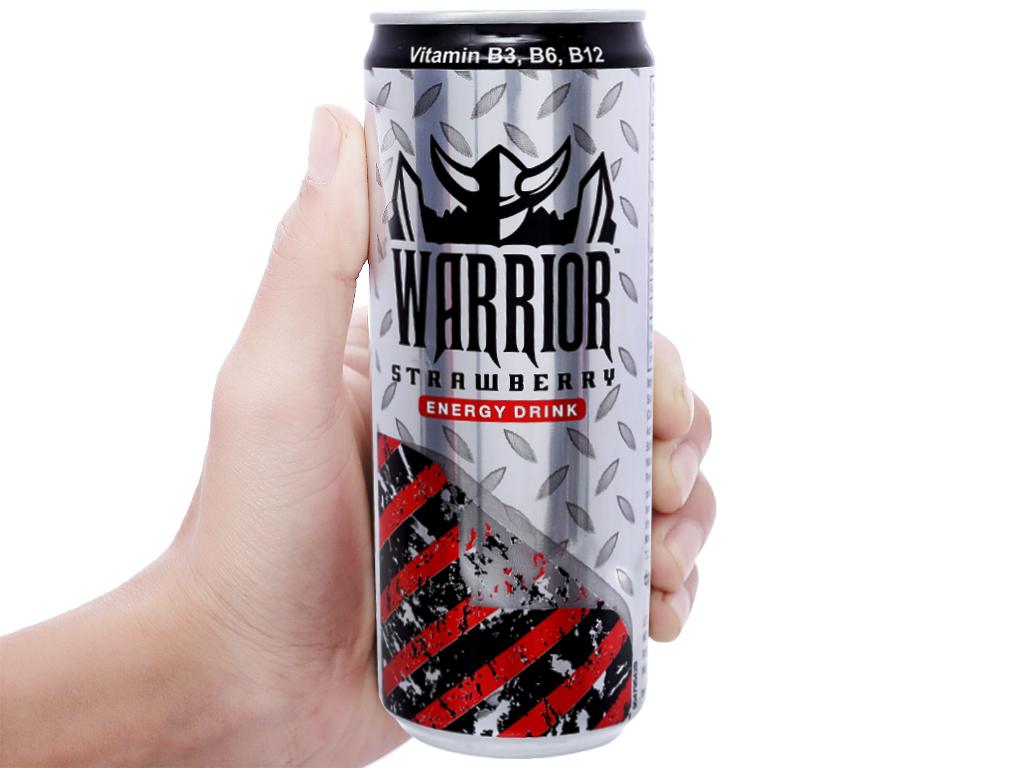 Nước tăng lực Warrior hương dâu 325ml 3