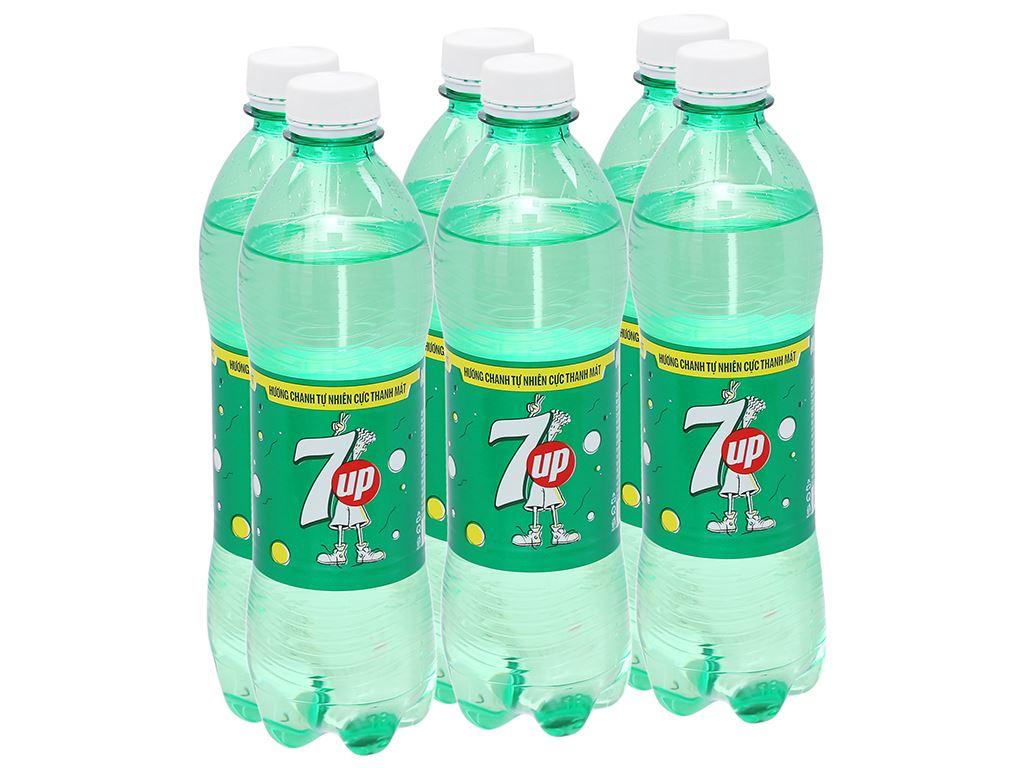 6 chai nước ngọt 7 Up vị chanh 500ml 1