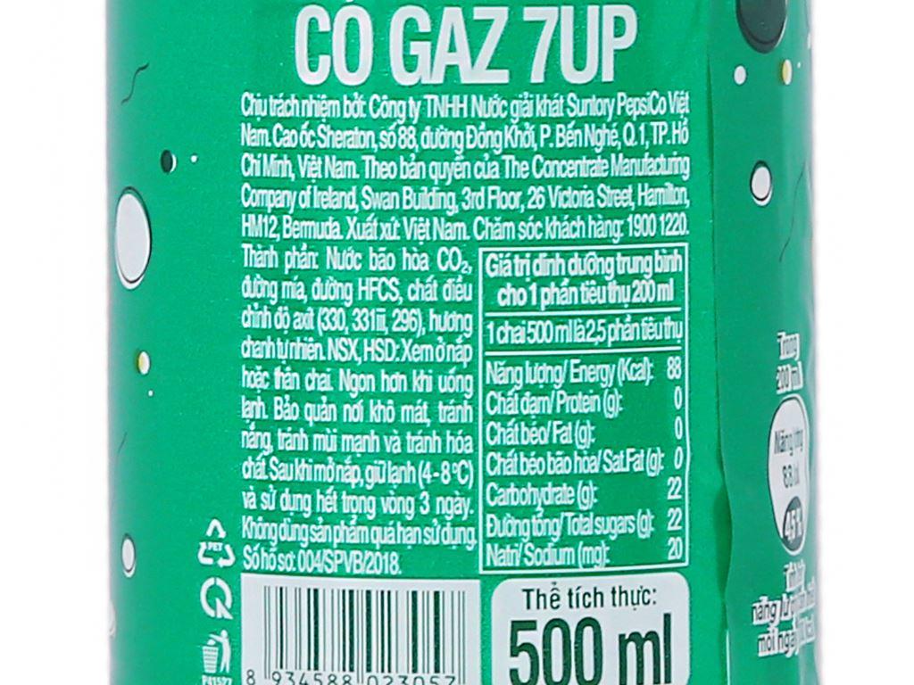 6 chai nước ngọt 7 Up vị chanh 500ml 5