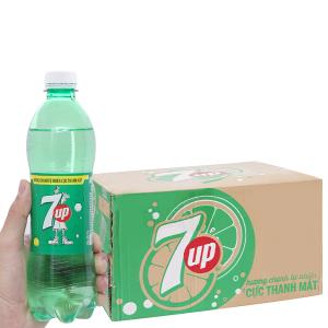 Thùng 24 chai nước ngọt 7 Up vị chanh 500ml