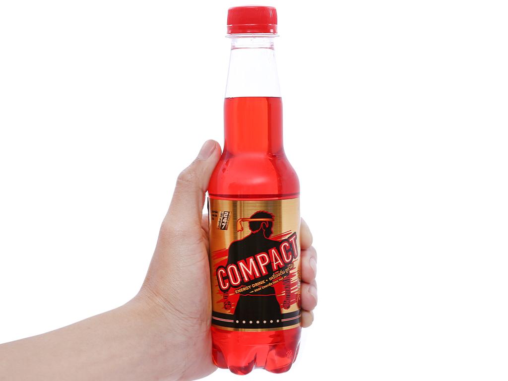 Thùng 24 chai nước tăng lực Compact vị cherry 330ml 3