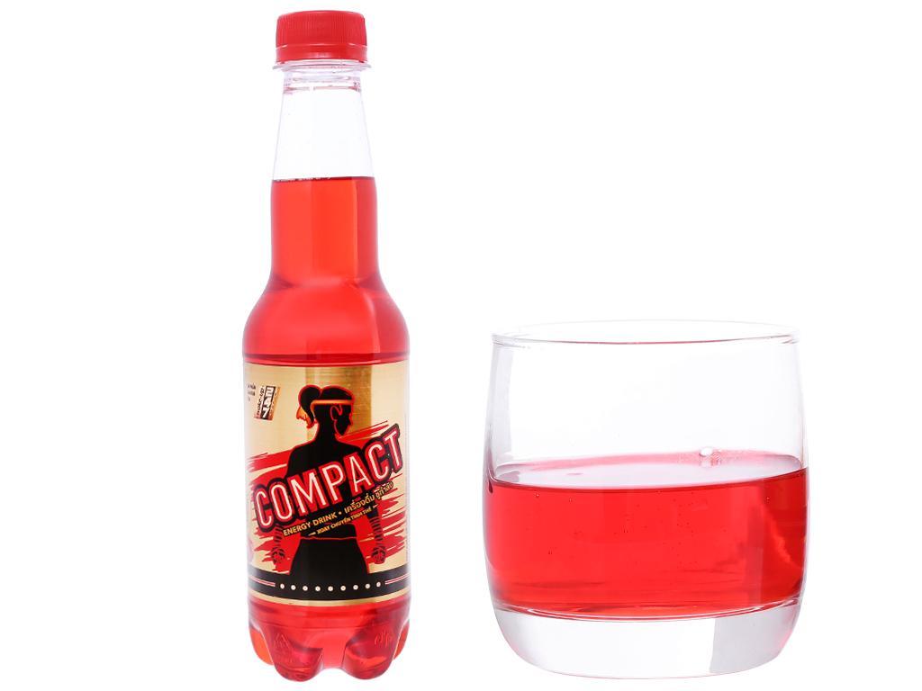 Thùng 24 chai nước tăng lực Compact vị cherry 330ml 5