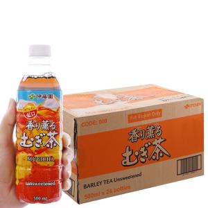 Thùng 24 chai nước uống trà lúa mạch ITOEN Mugicha 500ml