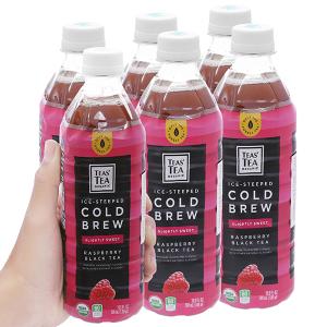 6 chai hồng trà Teas' Tea Organic Cold Brew vị phúc bồn tử 500ml