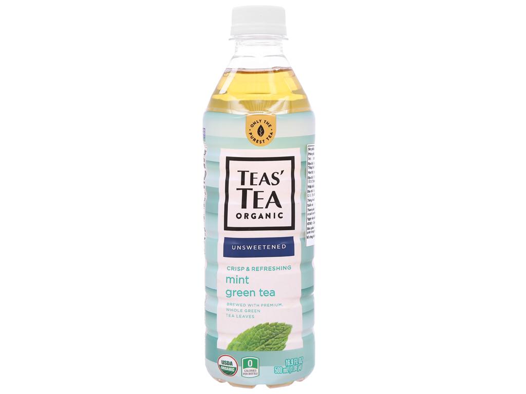 Trà xanh Teas' Tea Organic bạc hà 500ml 1