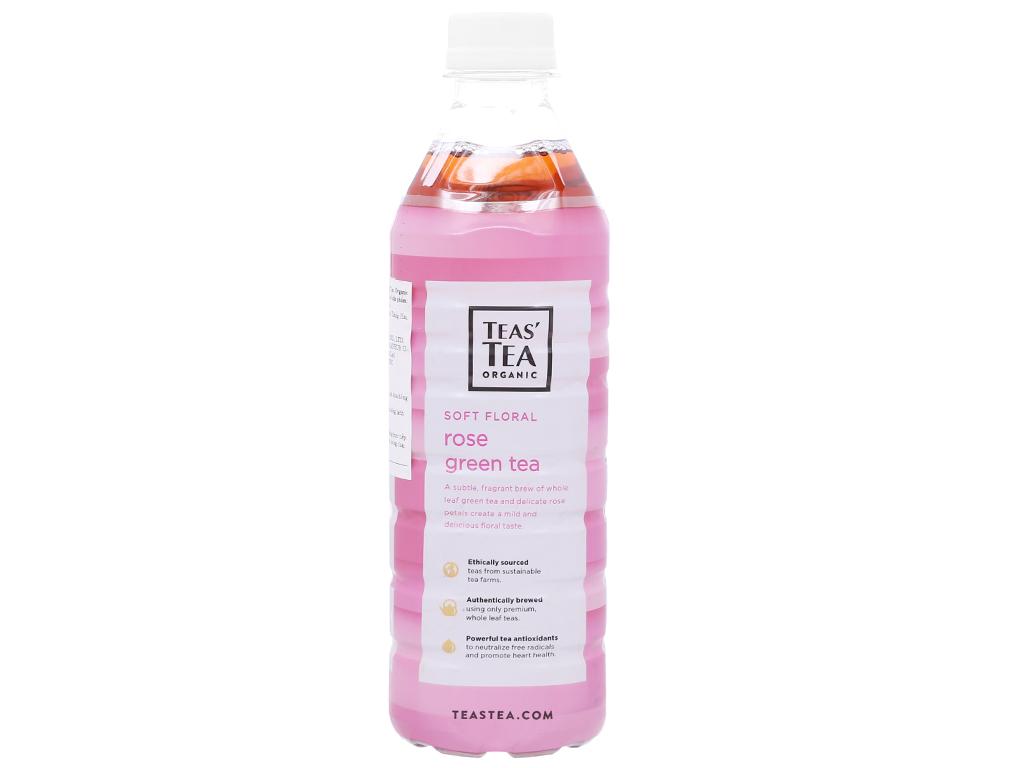 Trà xanh Teas' Tea Organic hoa hồng 500ml 2