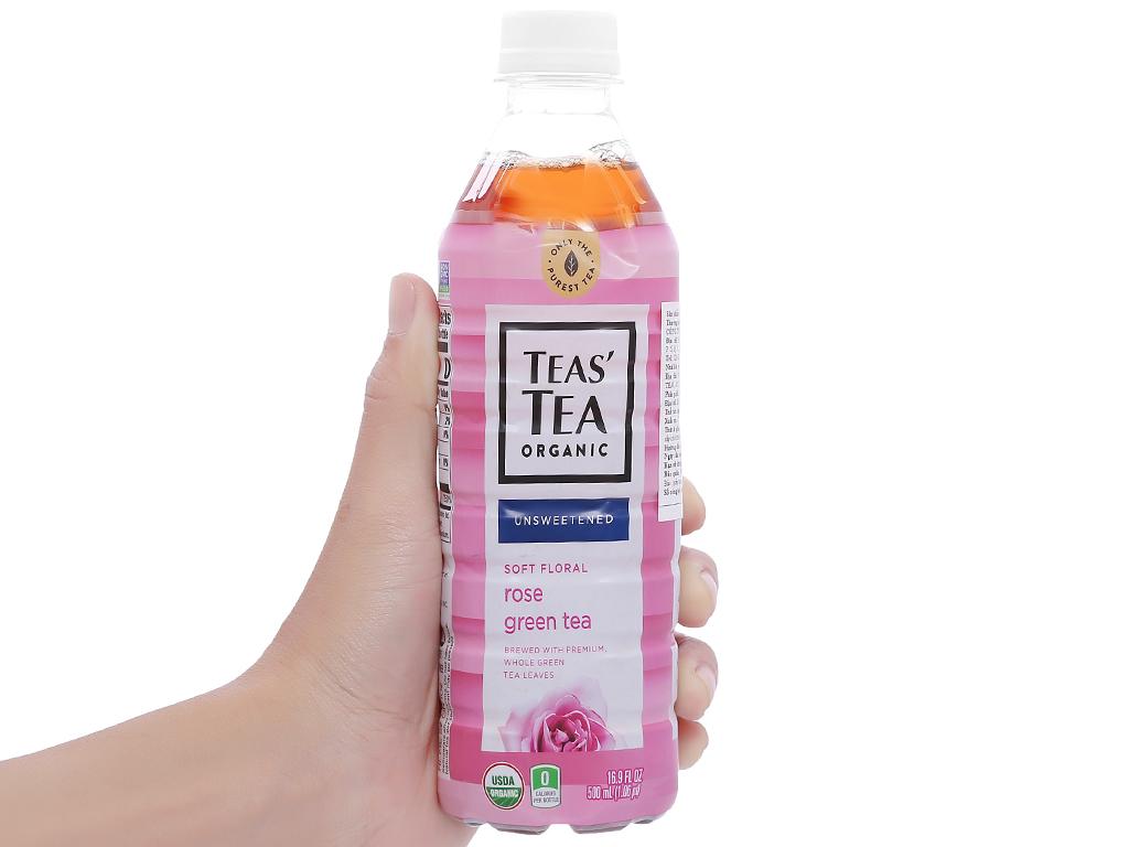 Trà xanh Teas' Tea Organic hoa hồng 500ml 4
