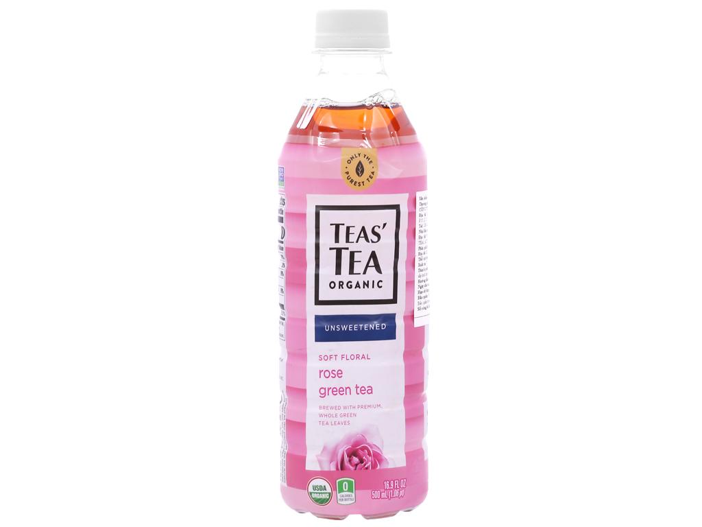 Trà xanh Teas' Tea Organic hoa hồng 500ml 1