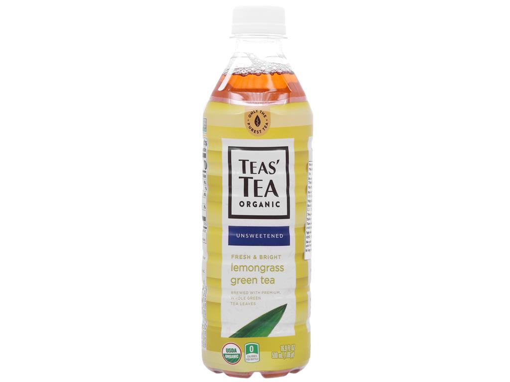 Trà xanh Teas' Tea Organic sả 500ml 1