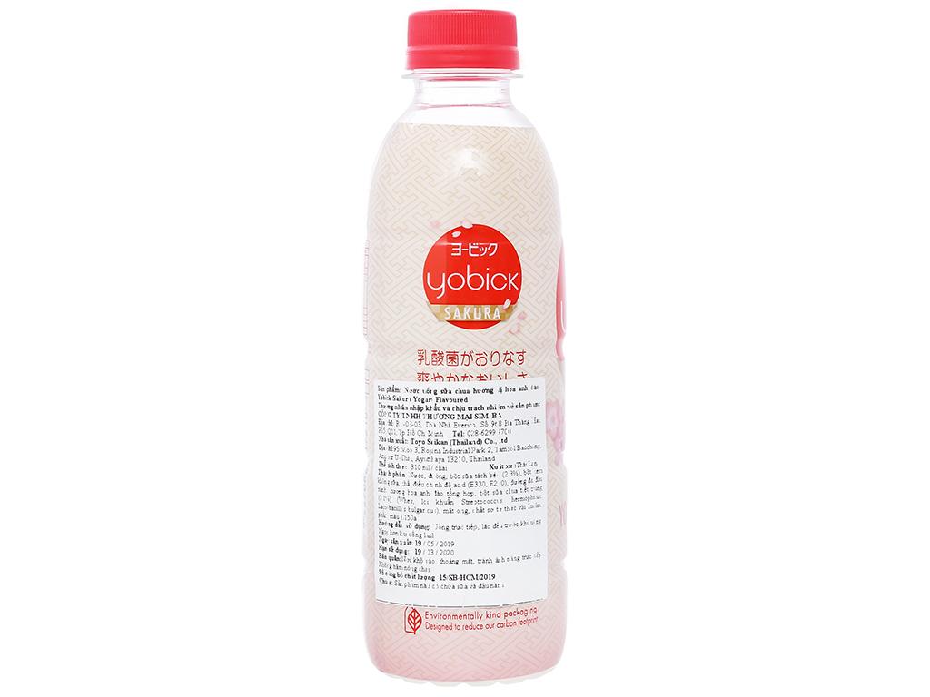 Nước uống sữa chua Yobick vị hoa anh đào 310ml 2