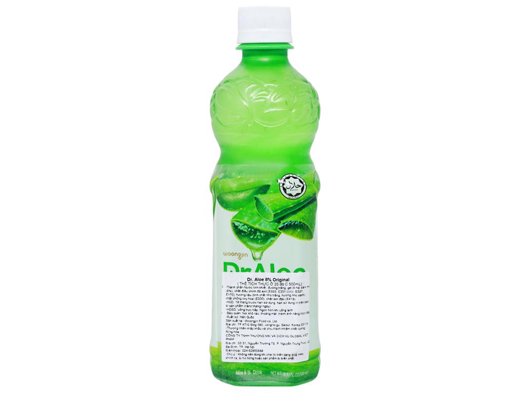 Nước nha đam Woongjin Zaiyeonun Aloe 8% 500ml 3