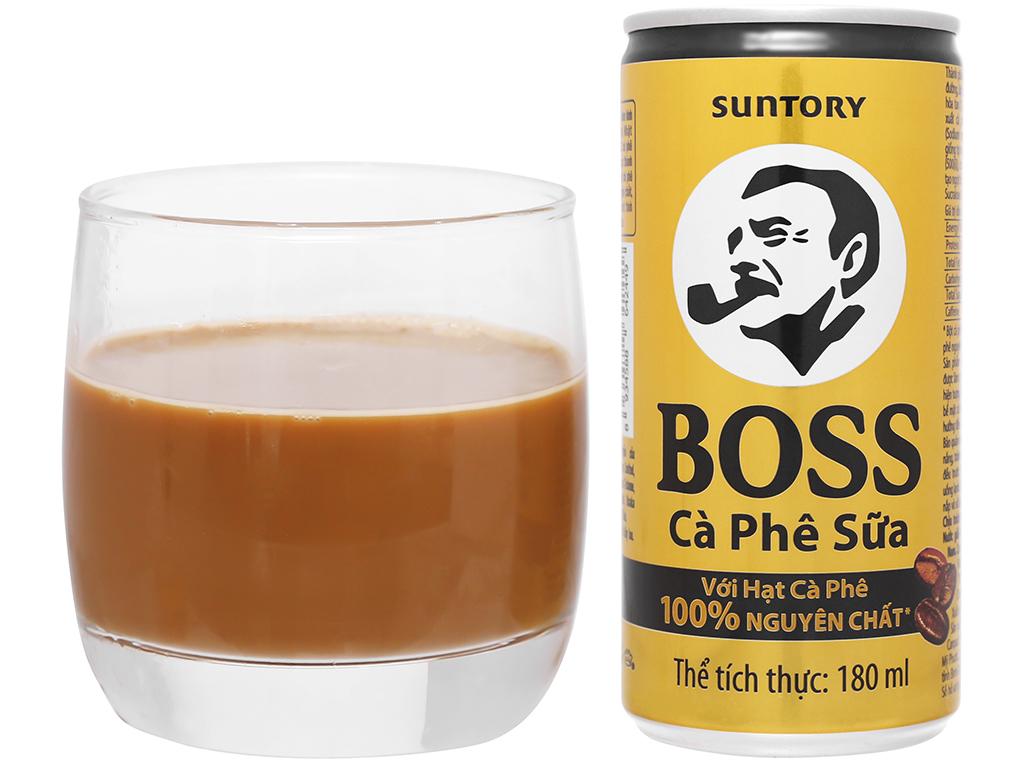 Cà phê sữa Boss 180ml 10