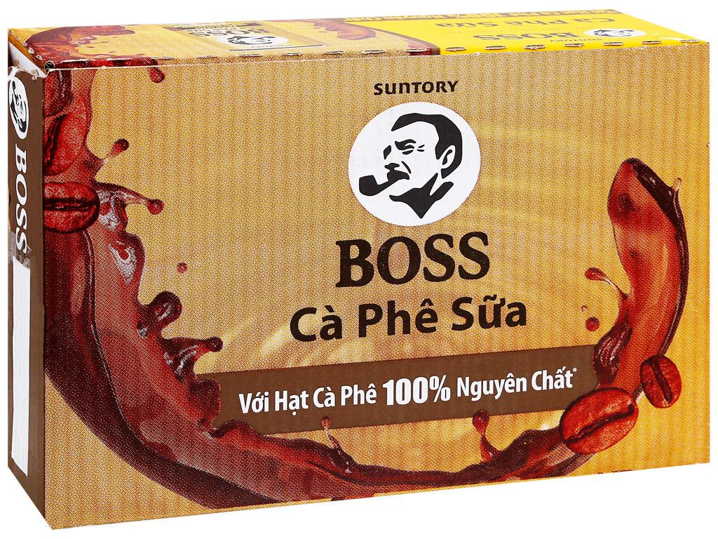 Thùng 24 lon cà phê sữa Boss 180ml 4