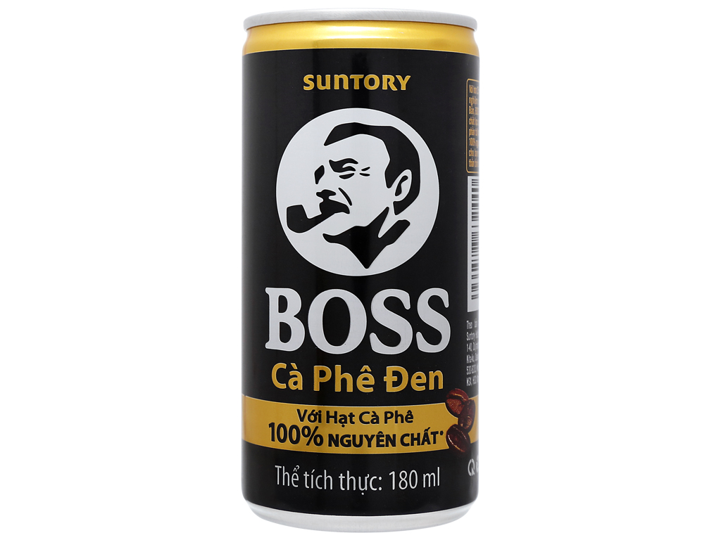 6 lon cà phê đen Boss 180ml 6