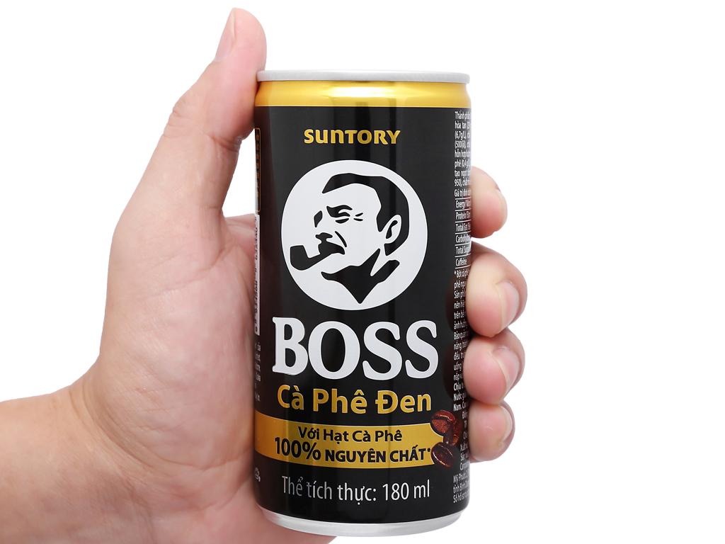 6 lon cà phê đen Boss 180ml 9