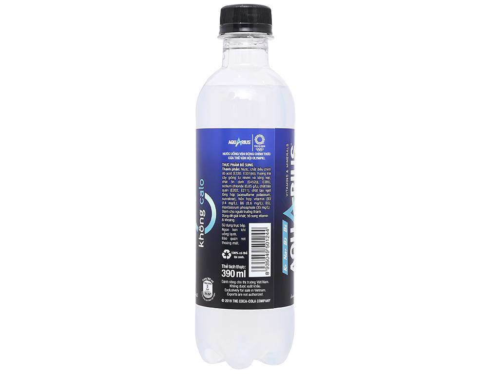 Thùng 24 chai nước uống vận động Aquarius Zero 390ml 5