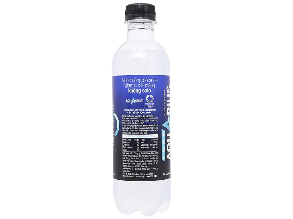 Thùng 24 chai nước uống vận động Aquarius Zero 390ml 6