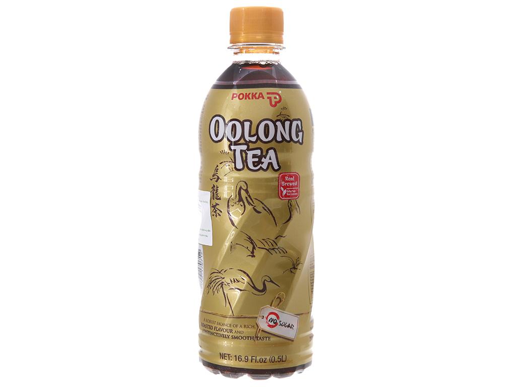 6 chai trà ô long Pokka không đường 500ml 2