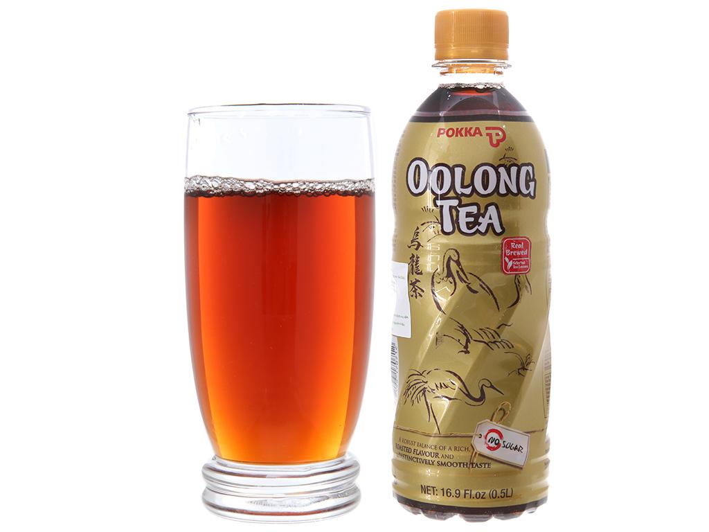 6 chai trà ô long Pokka không đường 500ml 5