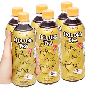 6 chai trà ô long Pokka không đường 500ml