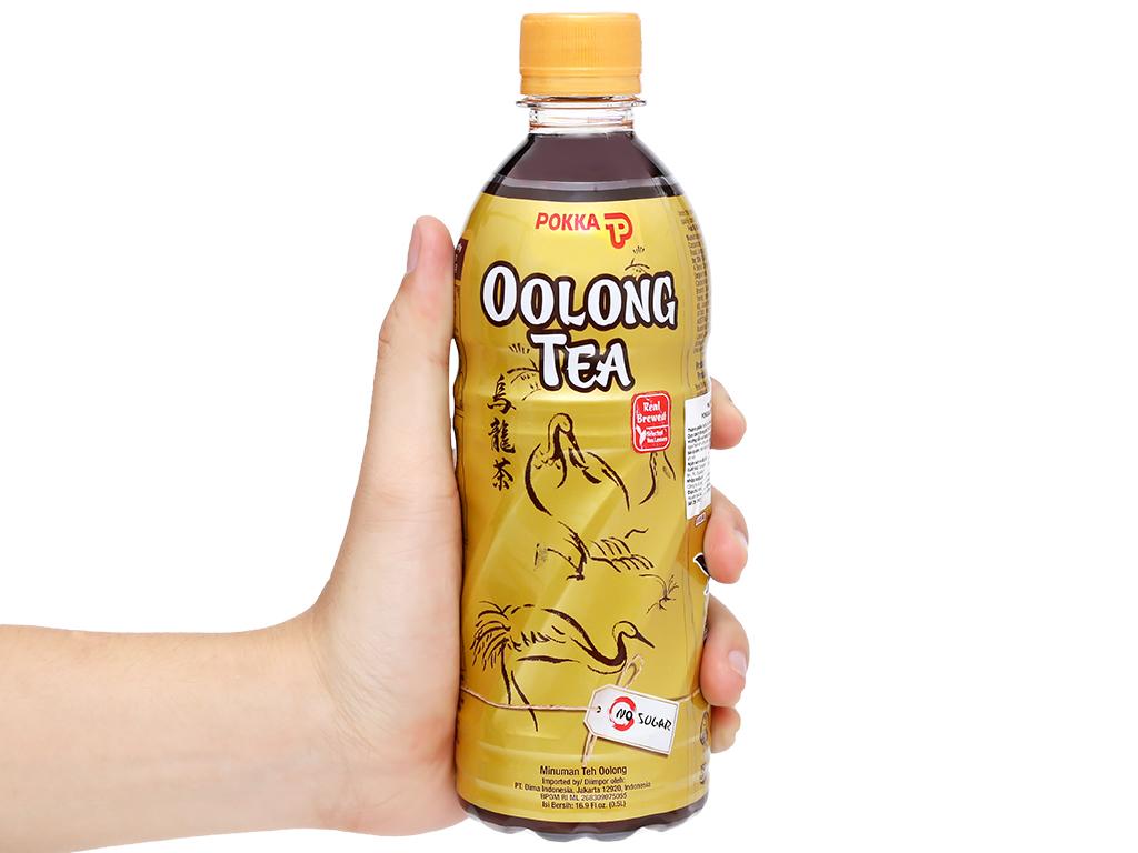6 chai trà ô long Pokka không đường 500ml 6