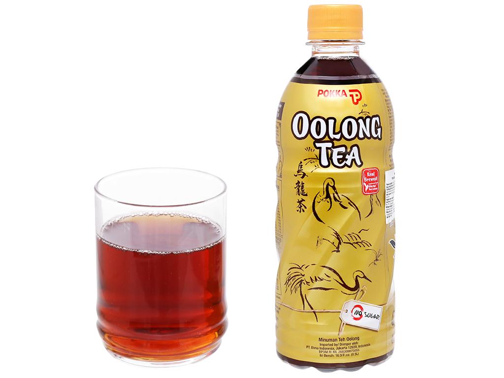 6 chai trà ô long Pokka không đường 500ml 7