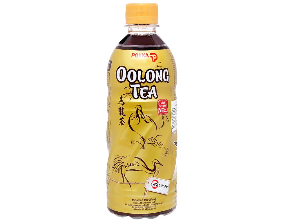 Thùng 24 chai trà ô long Pokka không đường 500ml 2