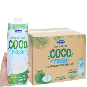 Thùng 12 hộp nước dừa tươi Vinamilk Coco Fresh 1 lít