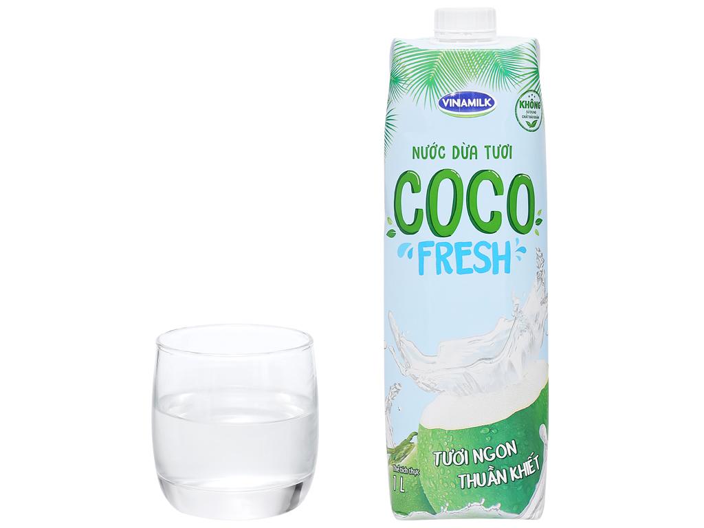 Thùng 12 hộp nước dừa tươi Vinamilk Coco Fresh 1 lít 8