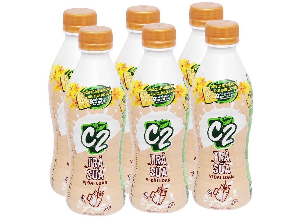 6 chai trà sữa C2 vị Đài Loan 280ml 1