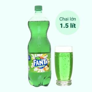Nước ngọt Fanta hương soda kem trái cây 1.5 lít