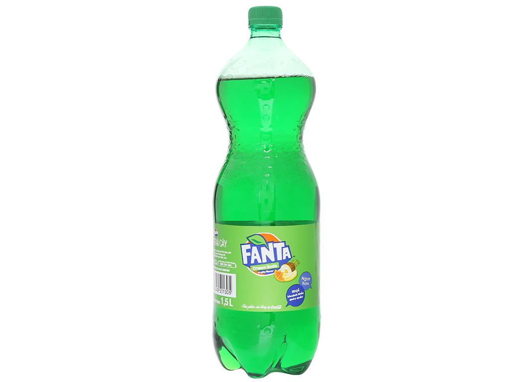 Nước ngọt Fanta hương soda kem trái cây 1.5 lít 2