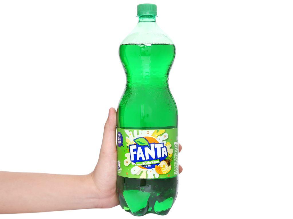 Nước ngọt Fanta hương soda kem trái cây 1.5 lít 5
