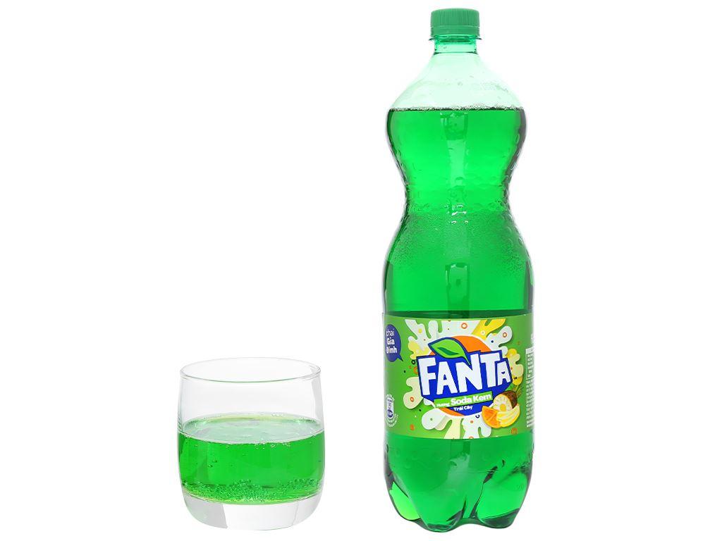 Nước ngọt Fanta hương soda kem trái cây 1.5 lít 6