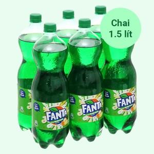 6 chai nước ngọt Fanta hương soda kem trái cây 1.5 lít