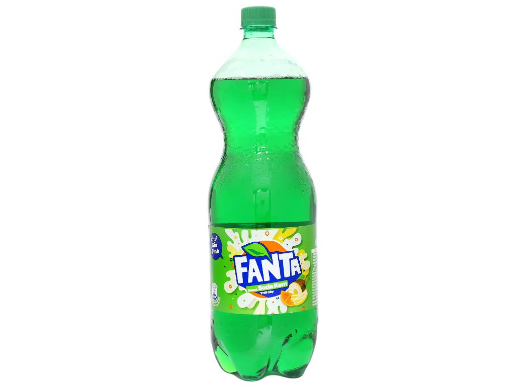 6 chai nước ngọt Fanta hương soda kem trái cây 1.5 lít 2