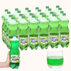 12 chai nước ngọt Fanta hương soda kem trái cây 1.5 lít