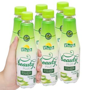 6 chai trà nha đam ít đường Vfresh Beauty Plus 350ml