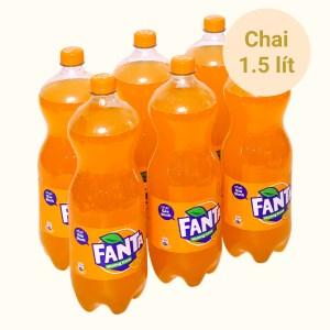 6 chai nước ngọt Fanta hương cam 1.5 lít