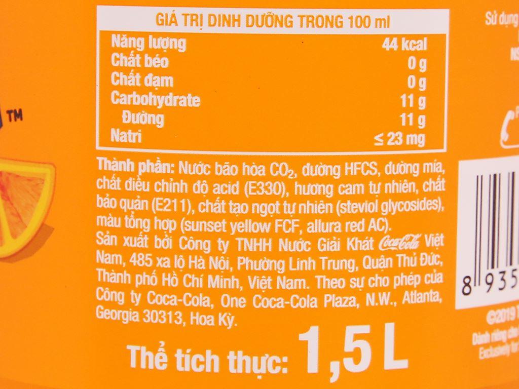 6 chai nước ngọt Fanta hương cam 1.5 lít 5