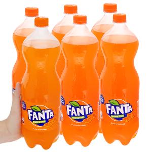 6 chai nước ngọt Fanta vị cam 1.5 lít