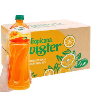 Thùng 12 chai nước cam ép Twister 1 lít