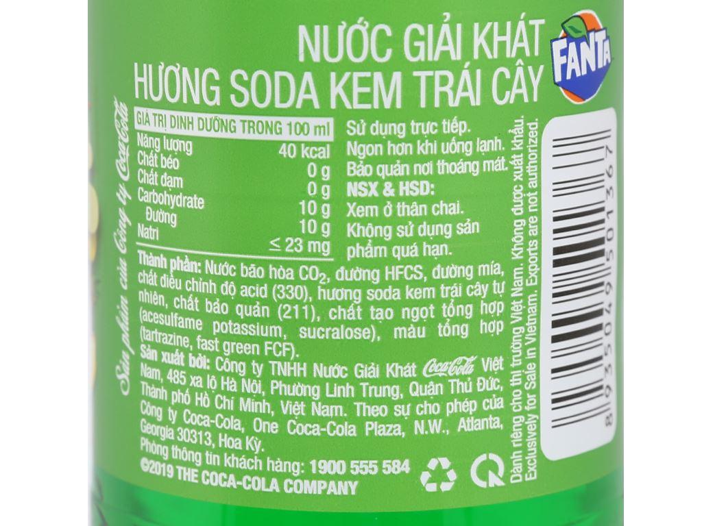 Thùng 24 chai nước ngọt có ga Fanta hương soda kem trái cây 600ml 4