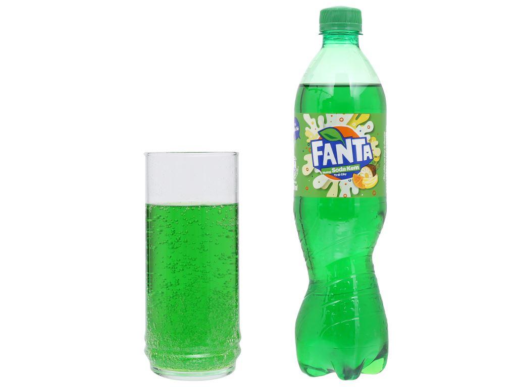 Thùng 24 chai nước ngọt có ga Fanta hương soda kem trái cây 600ml 6