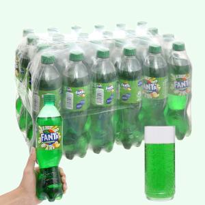 Thùng 24 chai nước ngọt có ga Fanta hương soda kem trái cây 600ml