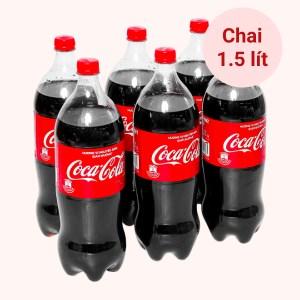 6 chai nước ngọt Coca Cola nguyên bản (giảm đường) chai 1.5 lít