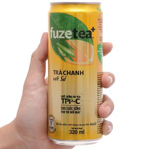 Trà chanh với sả Fuze Tea lon 320ml
